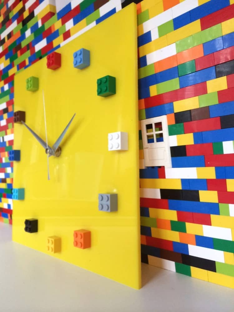 MOnki Stuff Handmade Lego Wall Clock Cool Things to Buy for Him