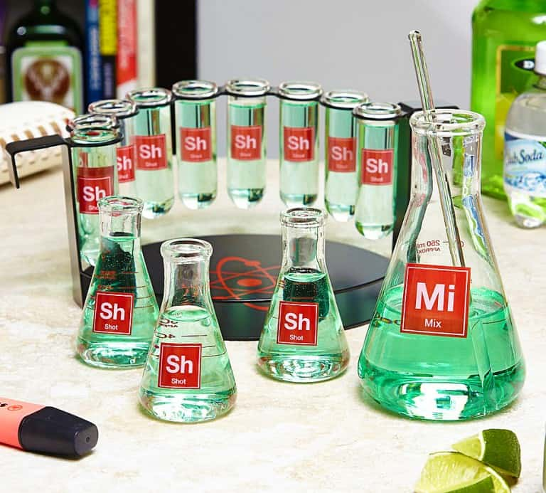 Mad Scientist Shot Glass Bar Set Awesome Stuff to Buy