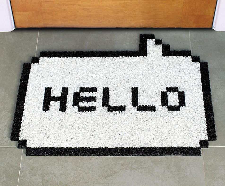 The retro-geeky way to greet your guests.