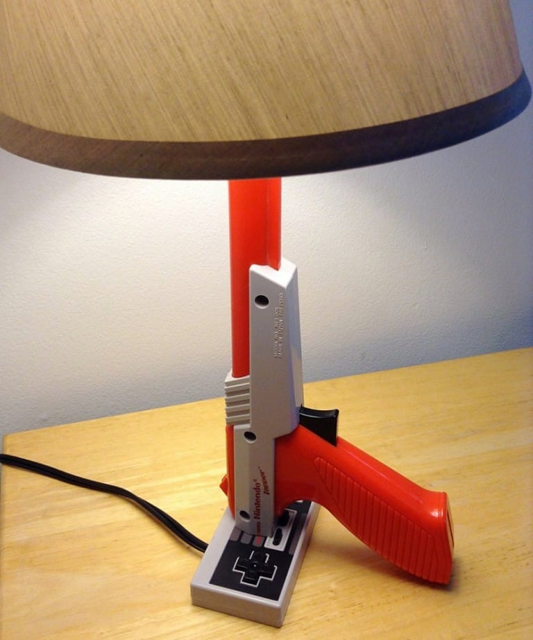 NES Zapper Gun Desk Lamp Cool Unique Gift to Buy for Kids