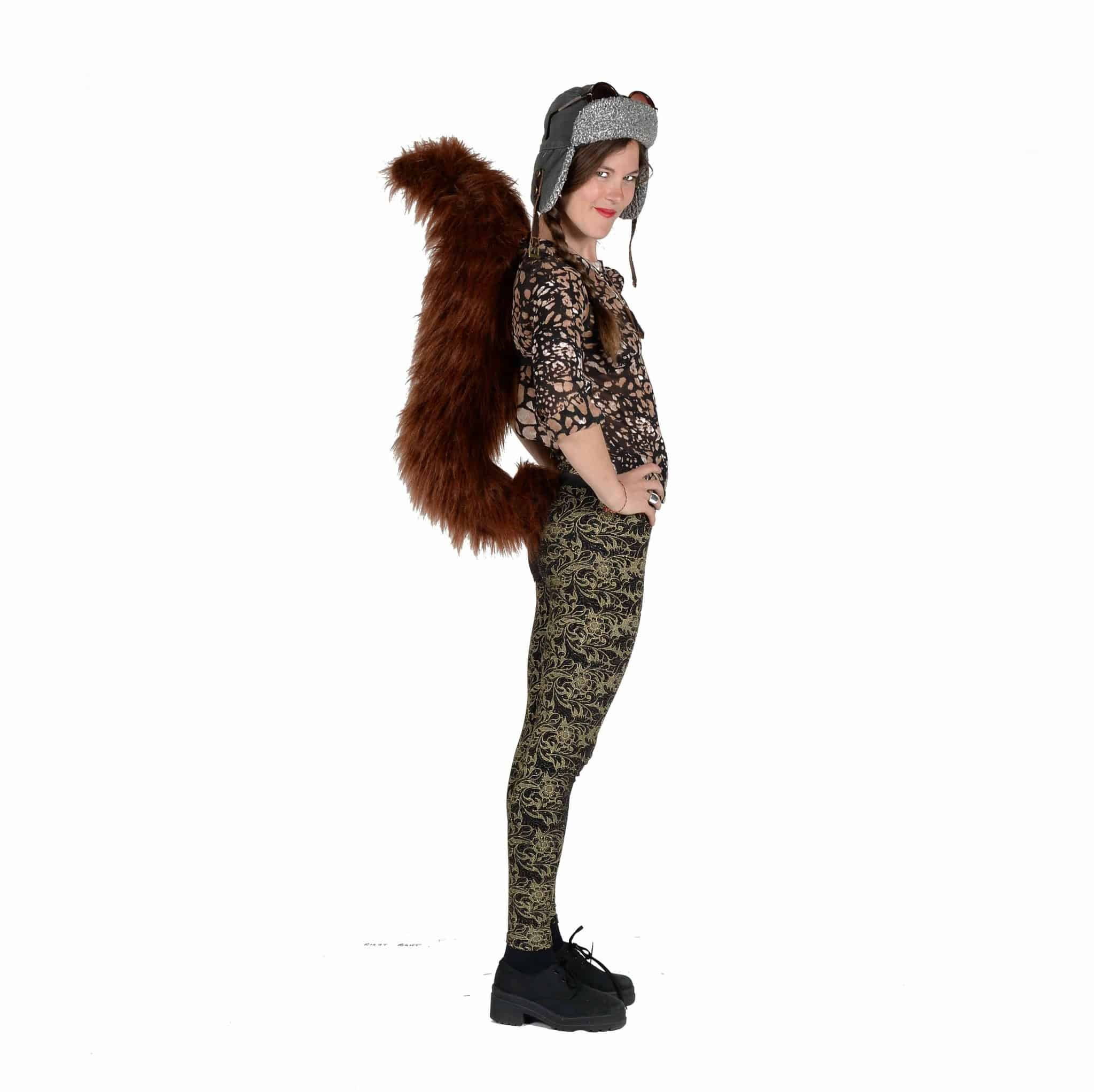 TellTails Wearable Animal Tails Squirrel Adult