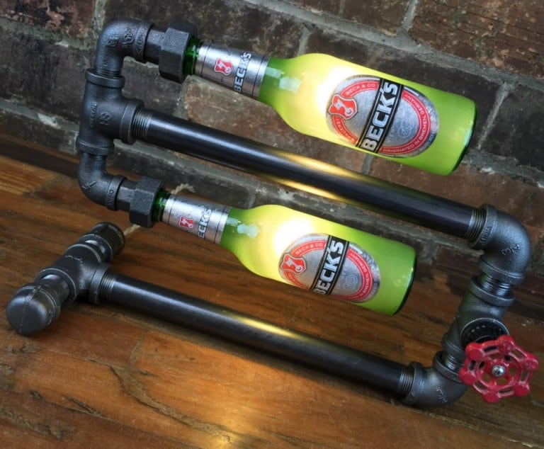 New Wine Old Bottles Bar Decor Industrial Lamp Green Shade