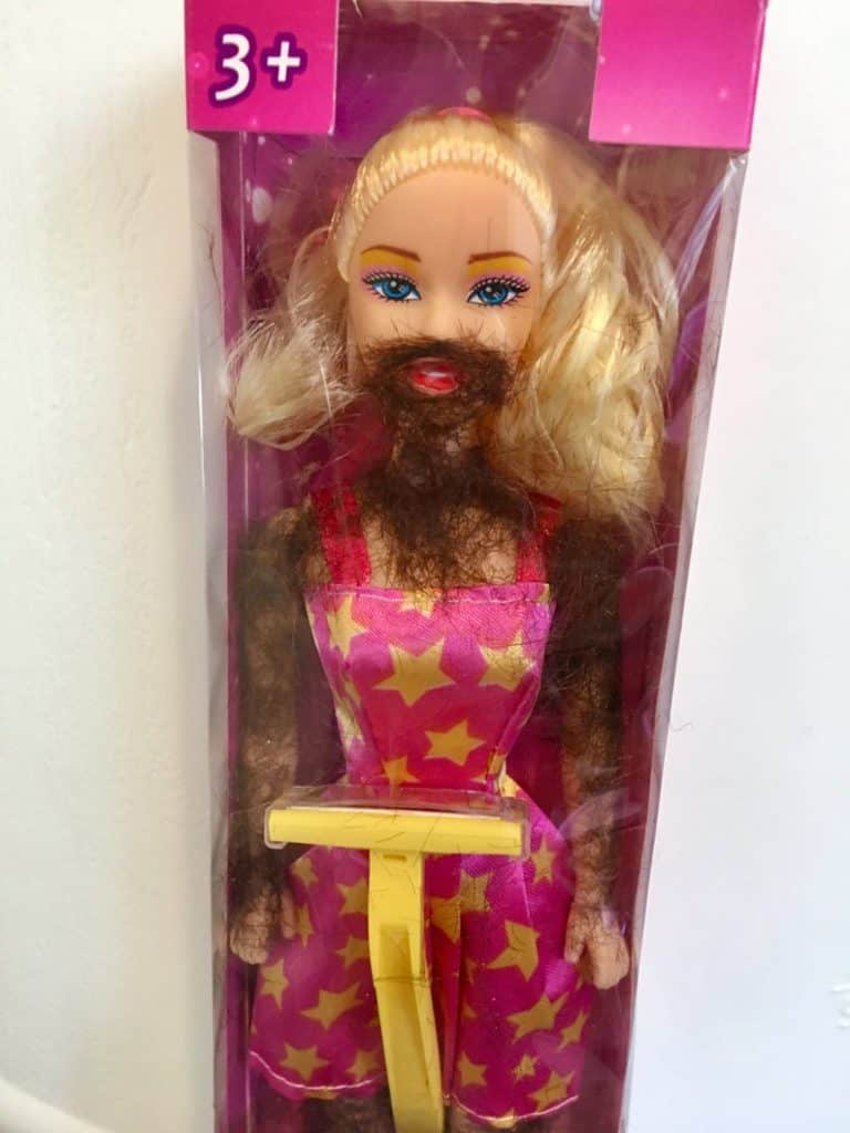 Original Shave and Play Barbie Funny Prank Gift