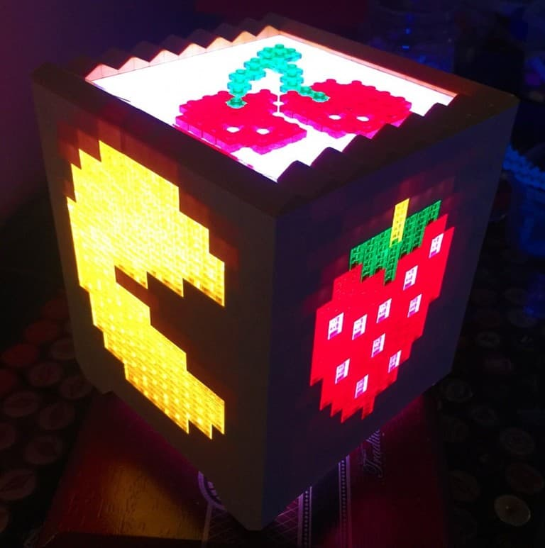 Pugs and Lego Pacman Lego Light  Unique Geek Gift to Buy