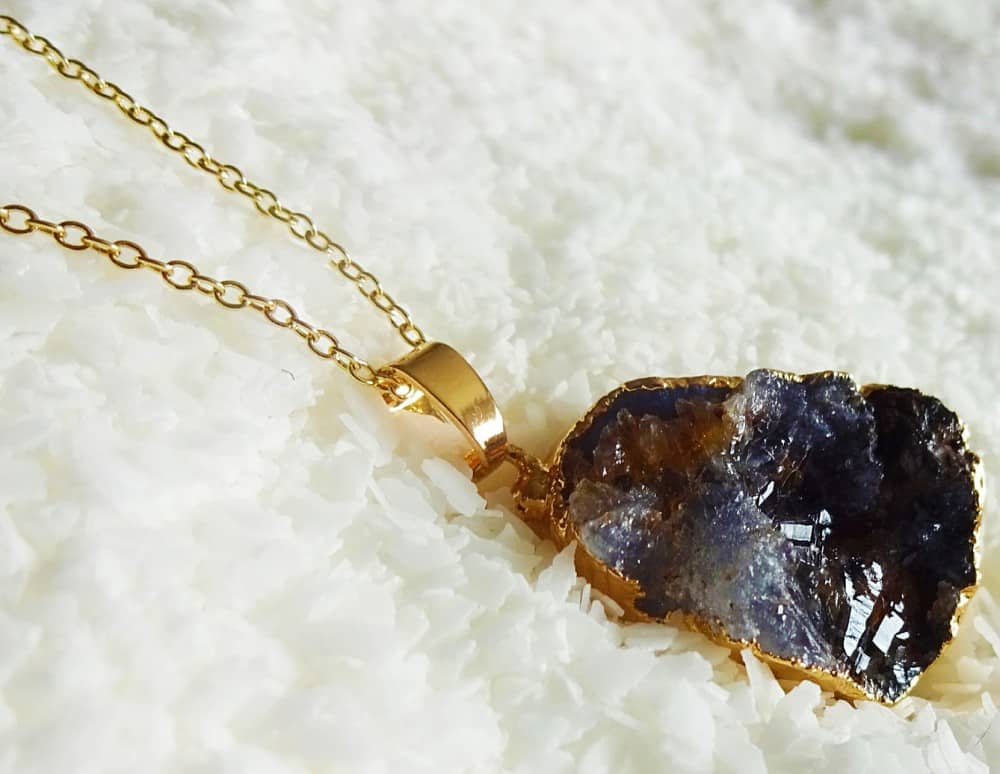 Shimmer Me This Druzy Natural Gemstone Necklace Cool Fashion Stuff to Buy Her