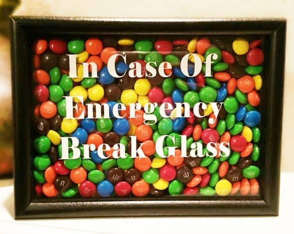 SouthernCharismaTx In Case of Emergency Candy Shadow Box
