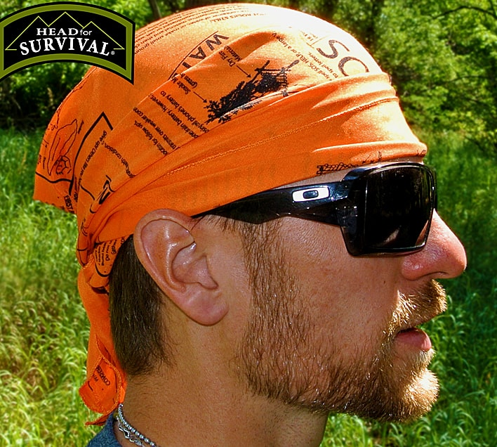 Survival Metrics Head for Survival Triangular Bandana Outdoor People Gift Idea