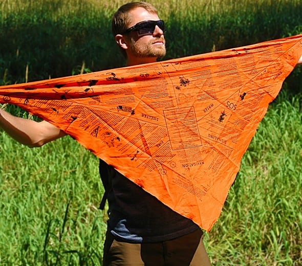 Survival Metrics Head for Survival Triangular Bandana Prepper Gift Idea