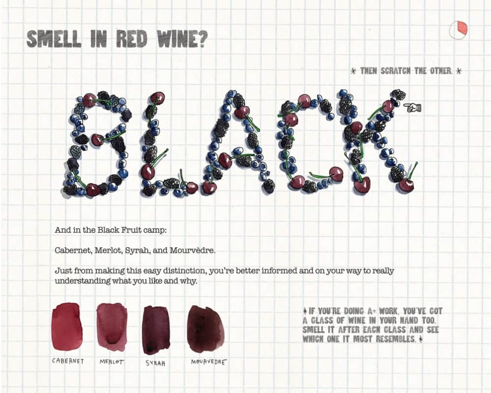 The Essential Scratch and Sniff Guide to Becoming a Wine Expert Book Page Black