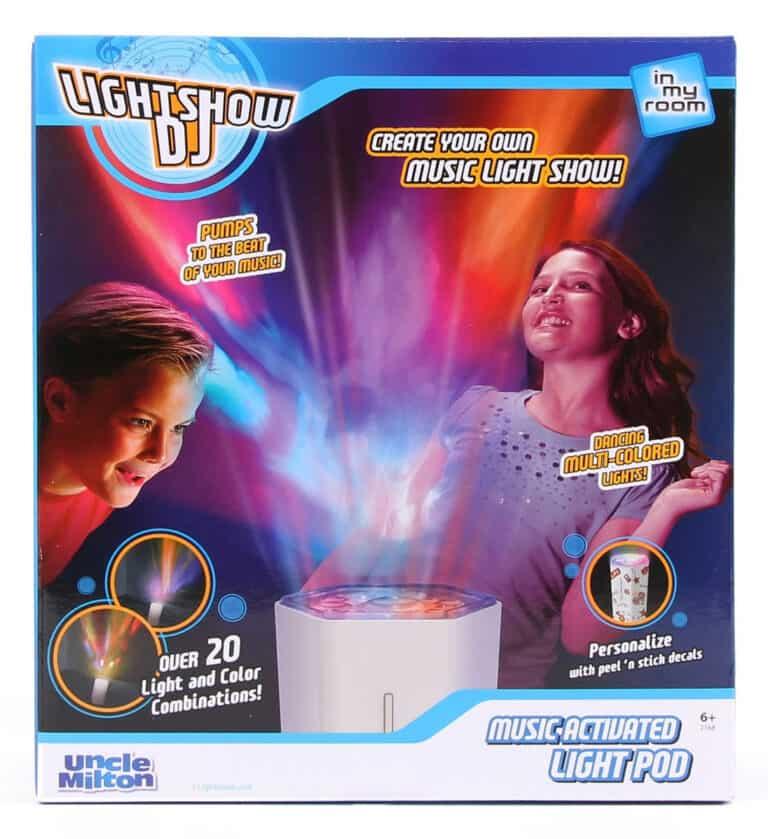 Uncle Milton Lightshow DJ Box Front Design