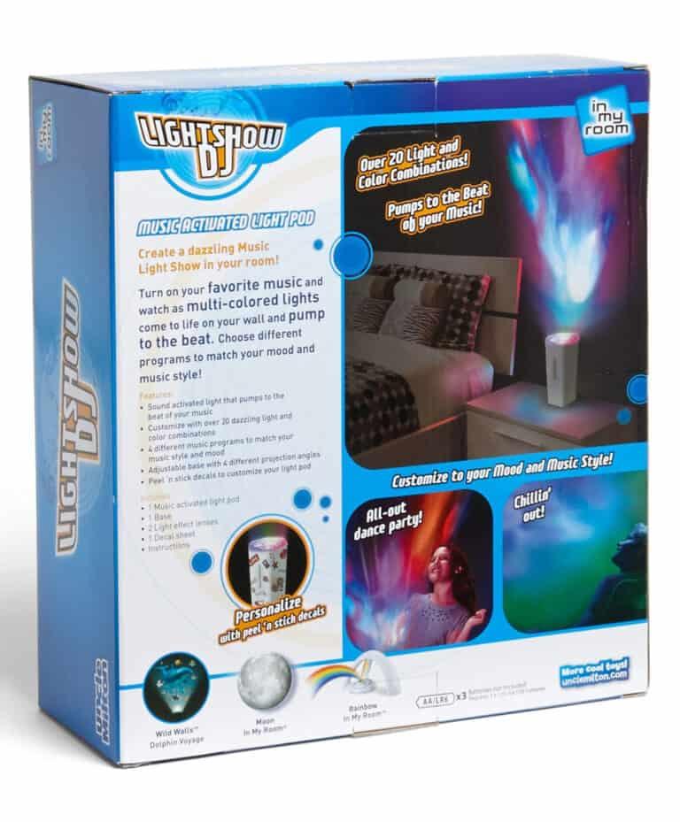 Uncle Milton Lightshow DJ Box Rear Details