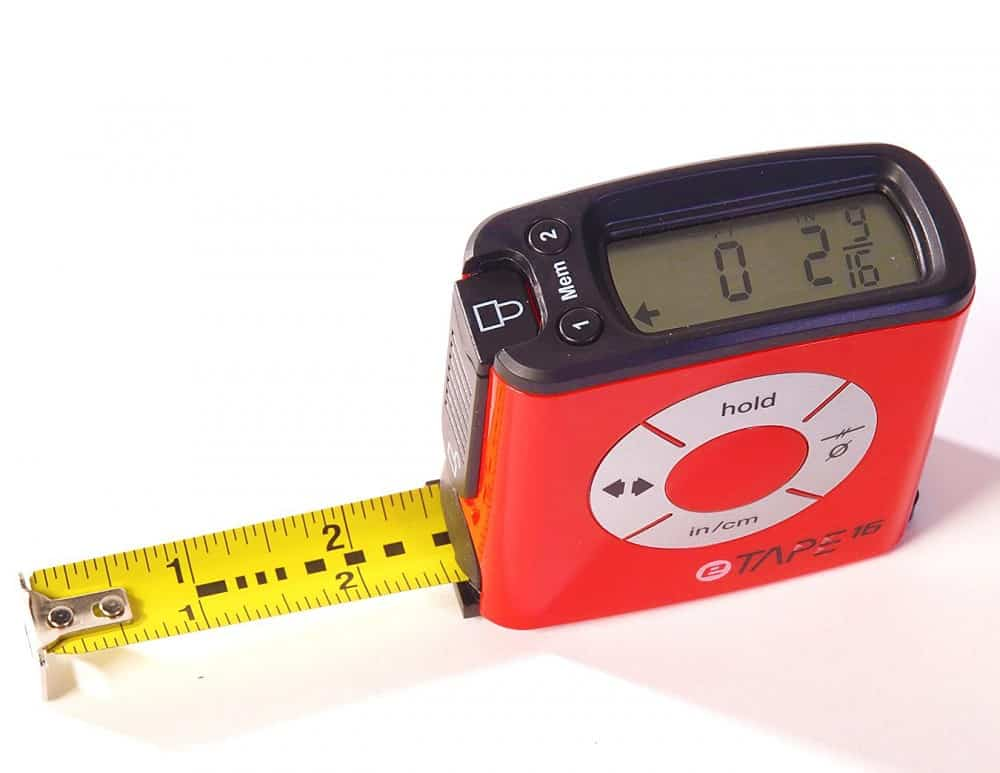 eTape16 Polycarbonate Digital Tape Measure Unique Gift Idea