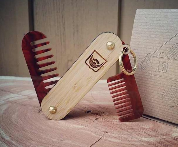 miniFab Personalized Pocket Beard Comb Hip Gift to Buy