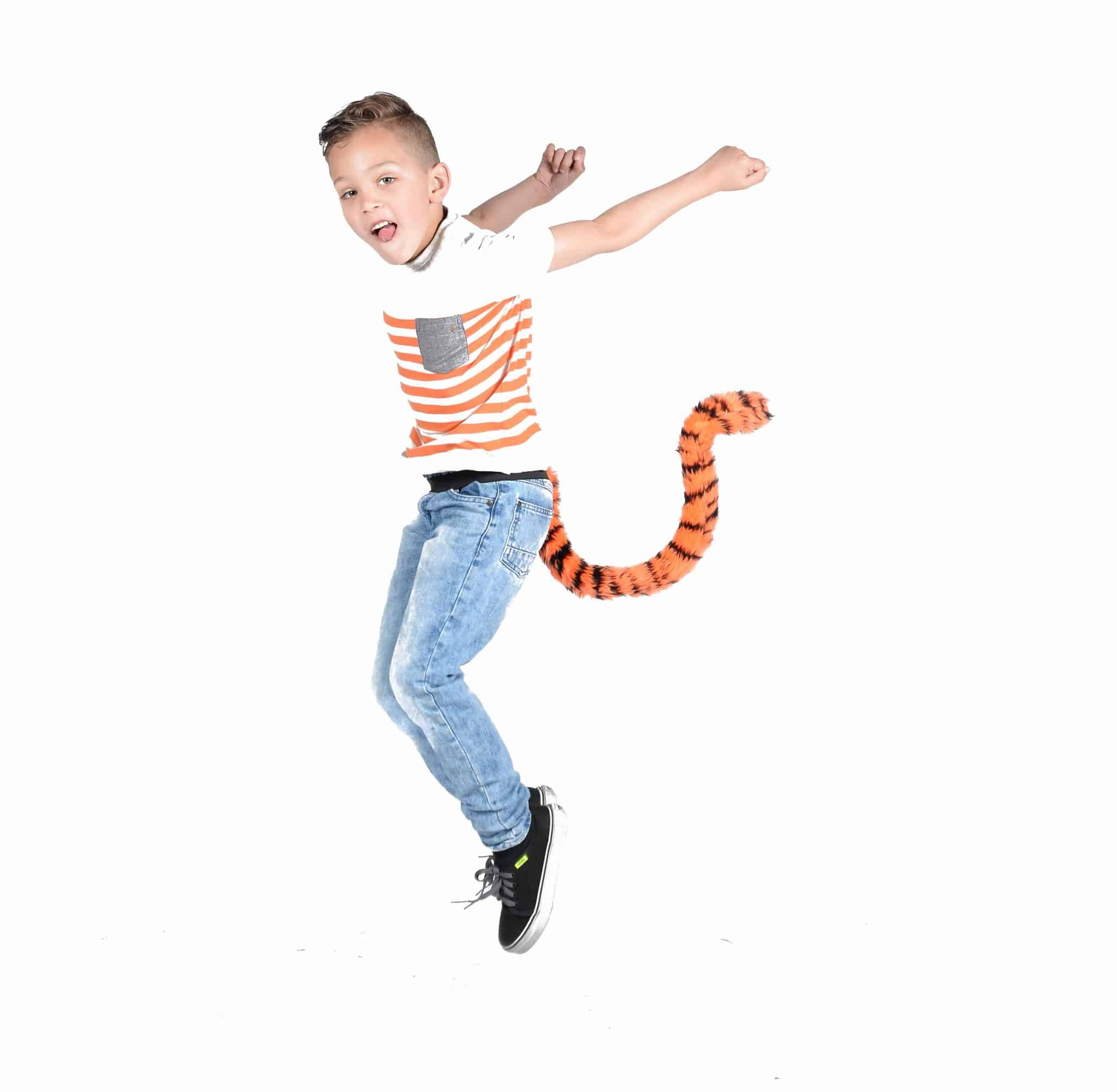 TellTails Wearable Animal Tails Tigger Kids Size