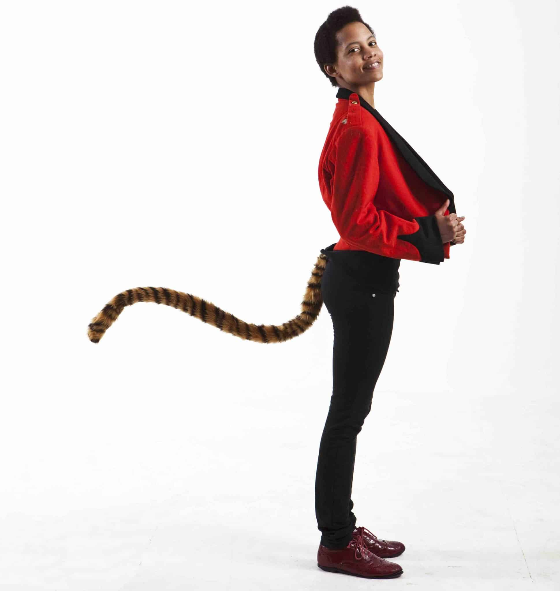 TellTails Wearable Animal Tails Tiger Adult Size