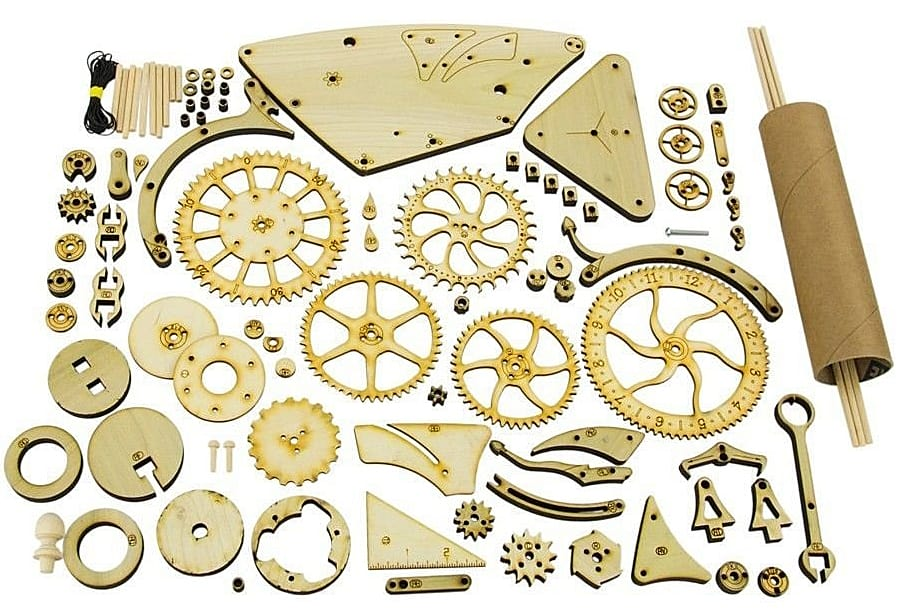 Abong Mechanical Wooden Clock Kit - NoveltyStreet