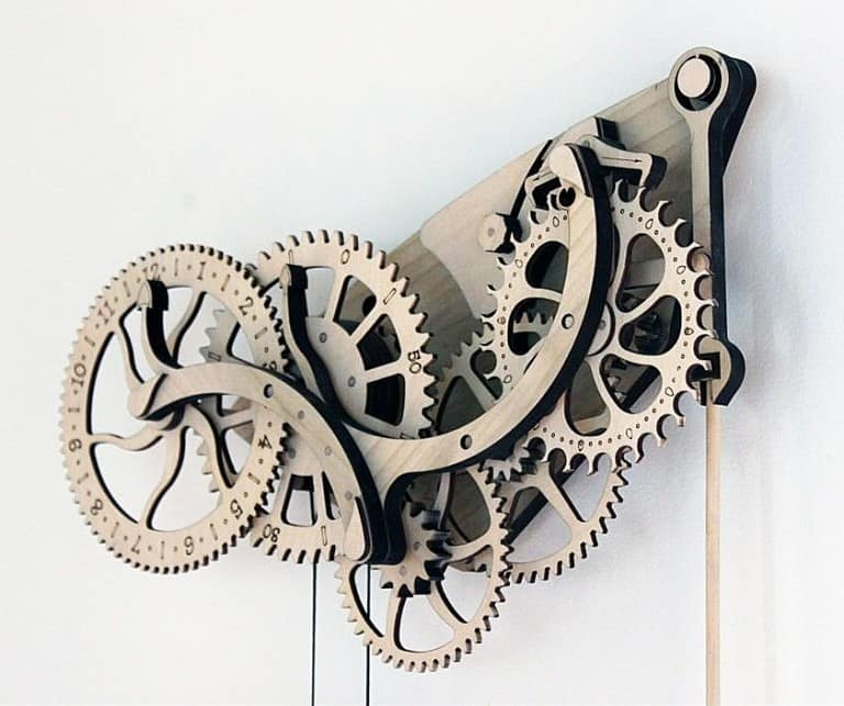 Abong Mechanical Wooden Clock Kit Vintage Design Ornaments