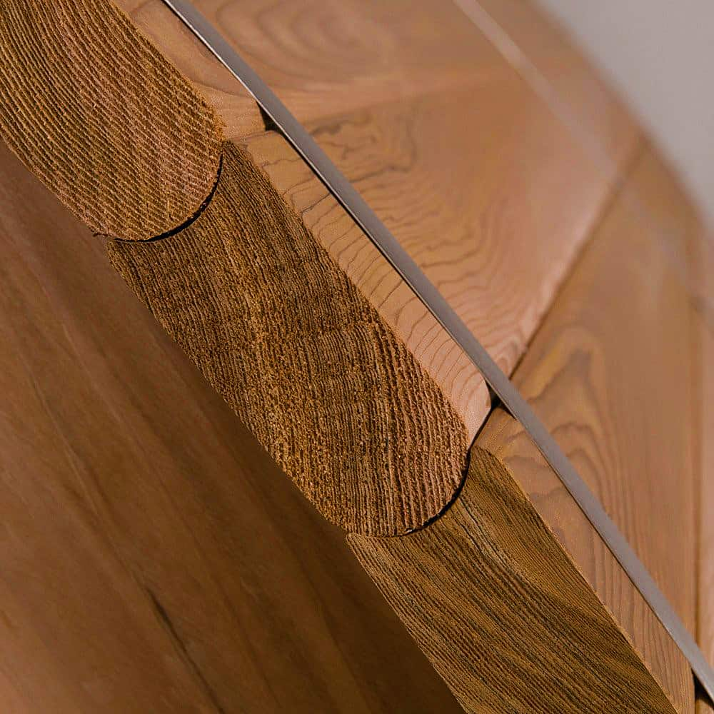 Almost Heaven Saunas Canopy Barrel Sauna Exterior Detail
