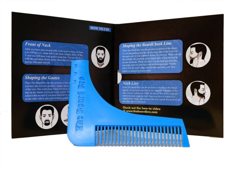 Beard Bro Beard Shaping Tool Cool Facial Comb to Buy