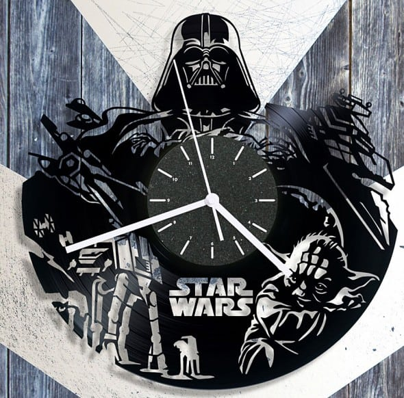 Cheerly Shop Star Wars Vinyl Clock Darth Vader Merchanise