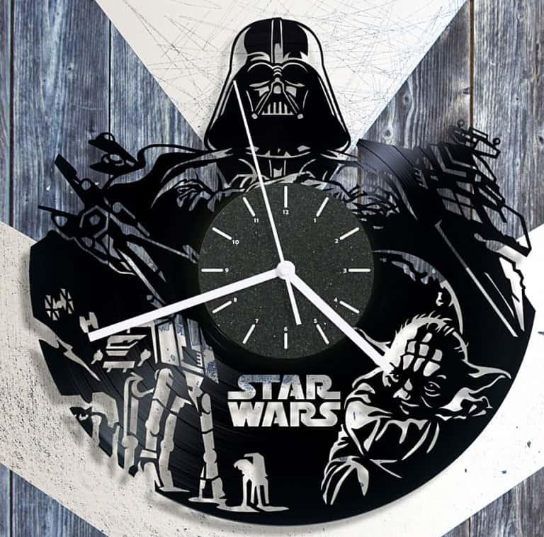 Cheerly Shop Star Wars Vinyl Clock Darth Vader Merchanise