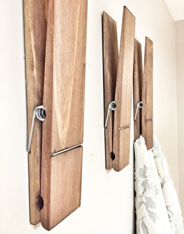 Big memories require gigantic clothespins.