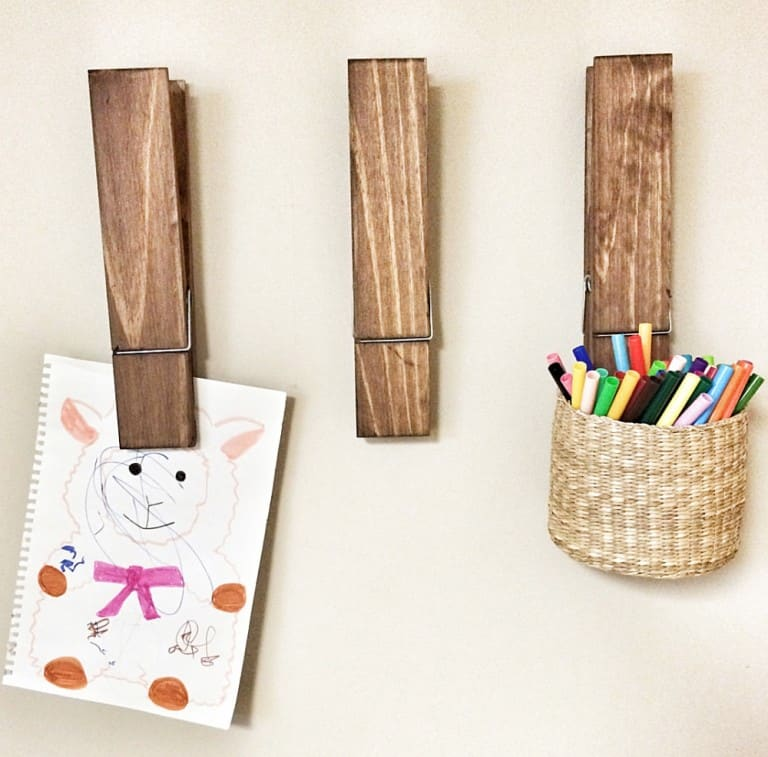 Cherry Tree Gallery Jumbo Sized Clothespin Unique Home Decorations