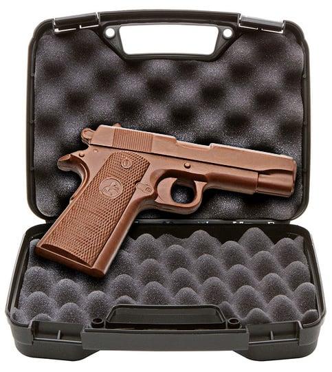 Chocolate Weapons Solid Milk Chocolate 1911 Handgun Professional Killing Candy