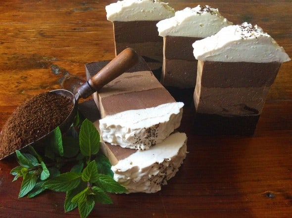 Earthy Krunchy Soap Caffe Mocha Latte Coffee Scrub Soap Gift Ideas For Her