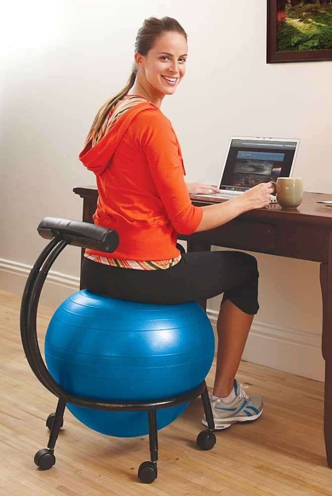 Gaiam Custom Fit Balance Ball Chair Multi Purpose Office Equipment