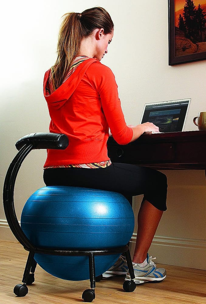 Gaiam Custom Fit Balance Ball Chair Workout While Working