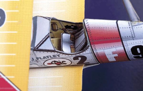 Huntlys Paper War Plane Boeing F4B-4 Cockpit Detail