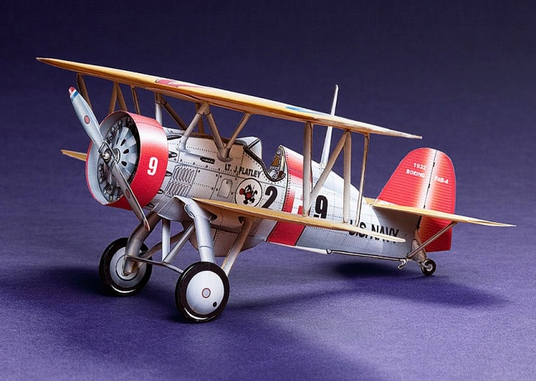 Huntlys Paper War Plane Boeing F4B-4 Cool Stuff to Buy Kids