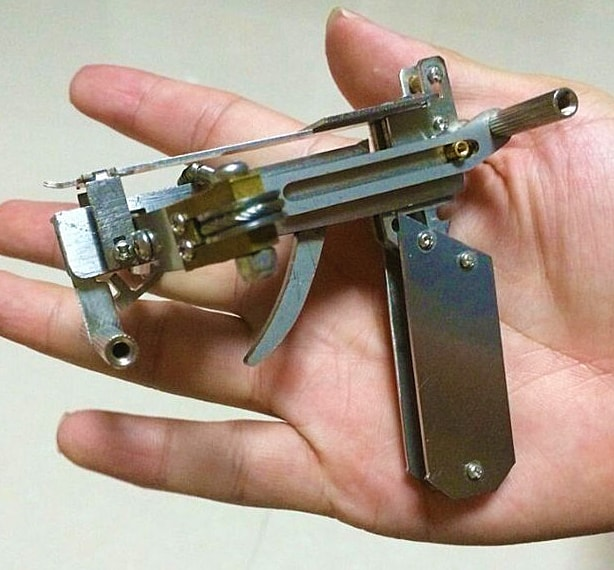 Ice Fire Creations Micro BB Crossbow Mini Handmade Weapon
