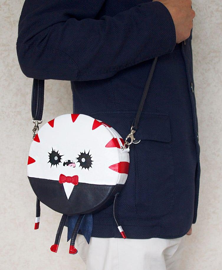 Krukru Studio Peppermint Butler Leather Purse Cartoon Character Design Bag