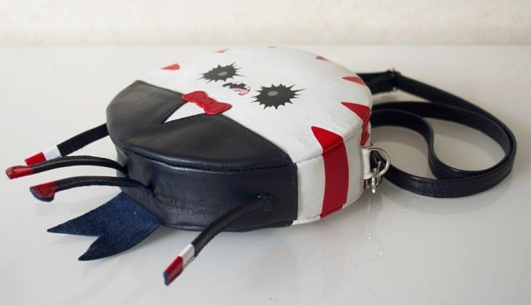 Krukru Studio Peppermint Butler Leather Purse Unique Fashion Accessory
