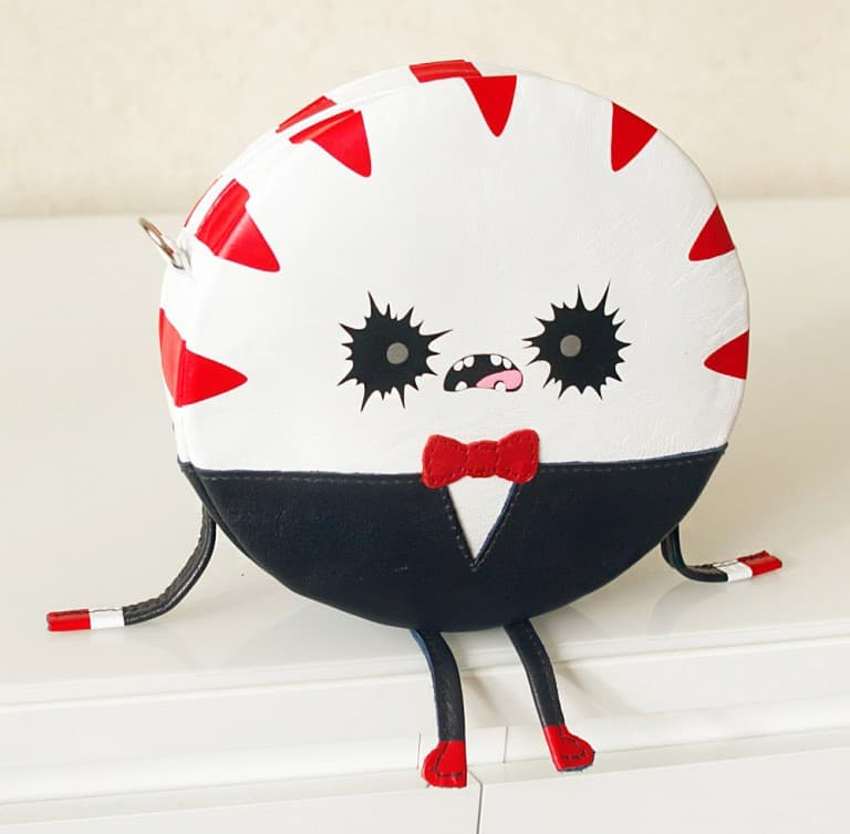 Krukru Studio Peppermint Butler Leather Purse Unisex Gift Ideas For Teenagers