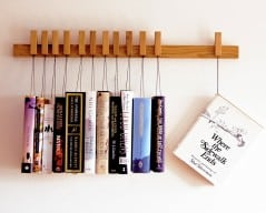 You'll hang books for those words.