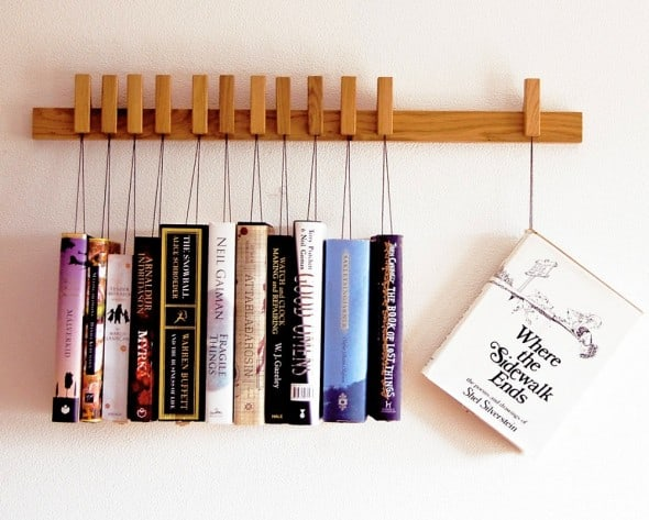 Old and Cold Hanging Book Rack Gift to Buy Booklover