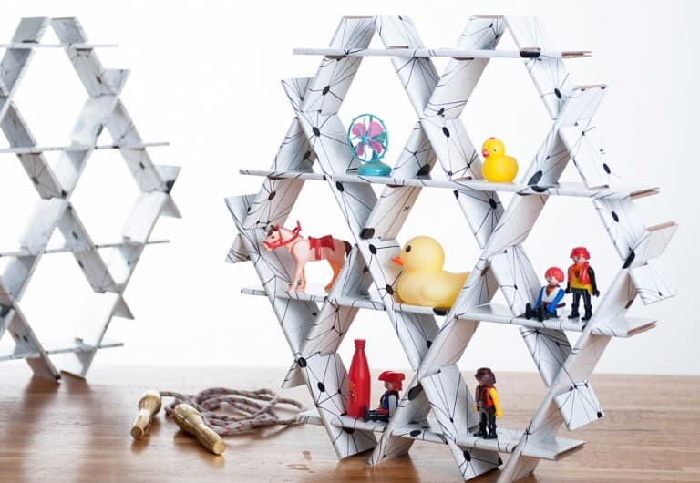 Ruche Shelving Geometric Storage Floating and Standing Rack
