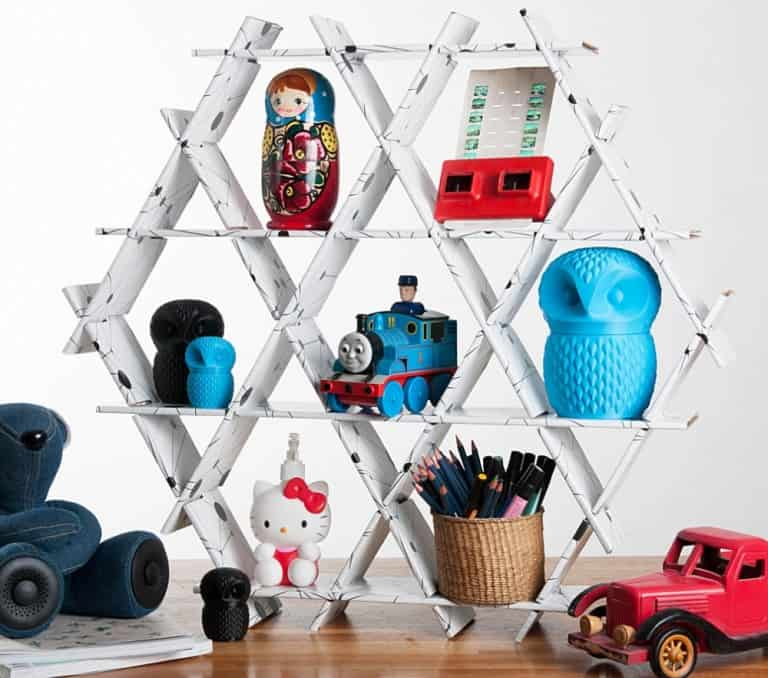 Ruche Shelving Geometric Storage Hexagon Shaped Shelf