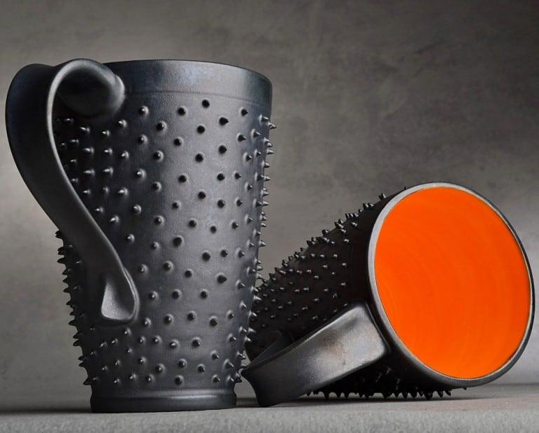 Symmetrical Pottery Spiky Coffee Mug Buy Cute Handmade Kitchenware
