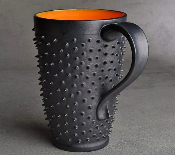 Symmetrical Pottery Spiky Coffee Mug Gift Ideas For Officemates