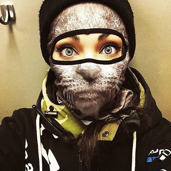 Teya Salat Animal Ski Mask Grey Cat Balaclava