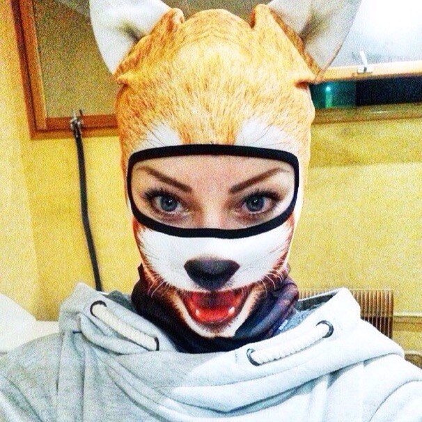 Teya Salat Animal Ski Mask Red Panda Balaclava