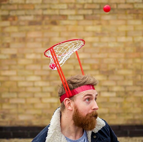 The Original Basket Case Headband Hoop Game Cool Indoor Activity to Play