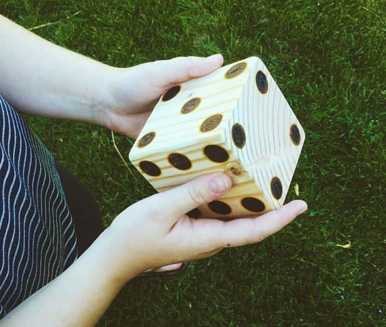 Too Legit Too Knit Yard Yahtzee Wooden Dice