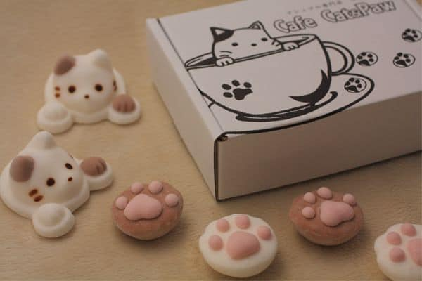Yawahada Cafe Cat Marshmallow Pack Cute Gift Idea for Kids