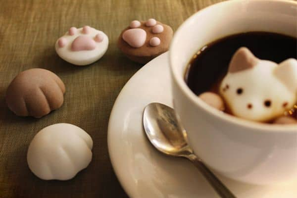 Yawahada Cafe Cat Marshmallow Pack Cute Things to Buy