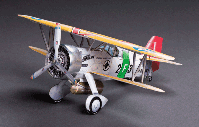 Huntlys Paper Warplanes Kits Curtiss BFC-2 Goshawk
